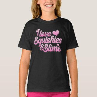 Camiseta Eu amo Squishies e t-shirt do limo
