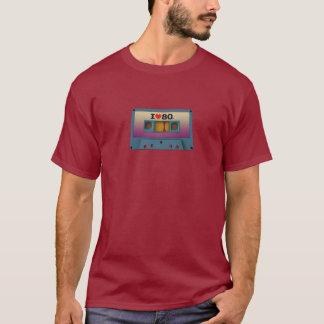 """Camiseta """"Eu amo t-shirt da cassete de banda magnética do"""