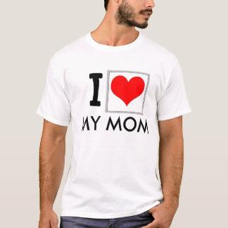 """Camiseta """"Eu amo t-shirt da minha mamã"""""""