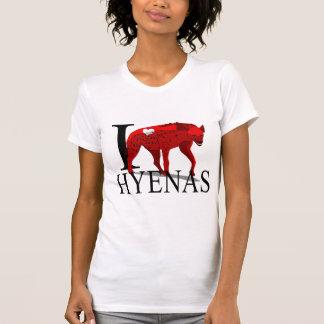 Camiseta Eu amo t-shirt das hienas