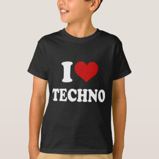 Camiseta Eu amo Techno