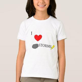 Camiseta Eu amo tempestades
