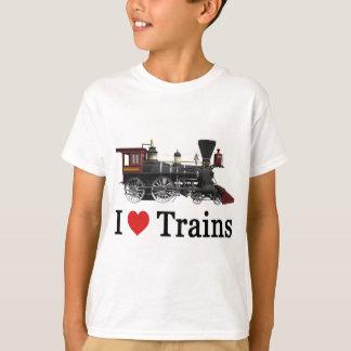 Camiseta Eu amo trens
