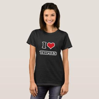 Camiseta Eu amo triplicar-se
