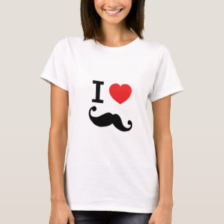 Camiseta Eu amo twirly o bigode