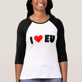 Camiseta Eu amo UE, o Bella das mulheres+T-shirt da luva