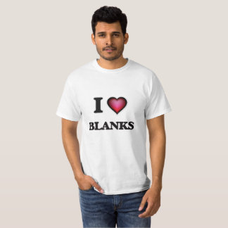Camiseta Eu amo vazios