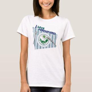 Camiseta Eu amo vegetarianos