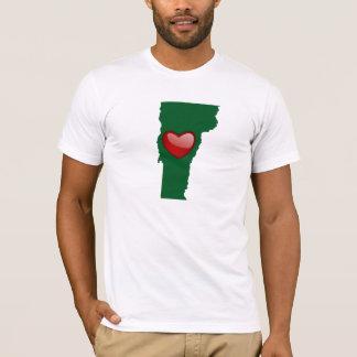 Camiseta Eu amo Vermont com mapa - t-shirt