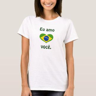 Camiseta Eu amo você.