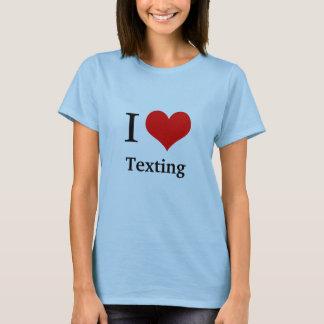 Camiseta Eu amo…  VOCÊ DATILOGRAFA O RESTO