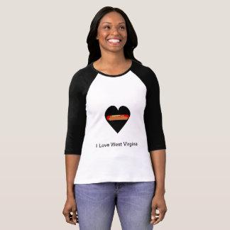 Camiseta Eu amo West Virginia