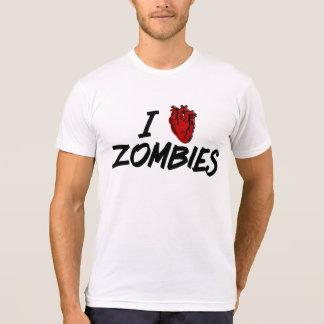Camiseta Eu amo zombis - os amantes do zombi unem-se!