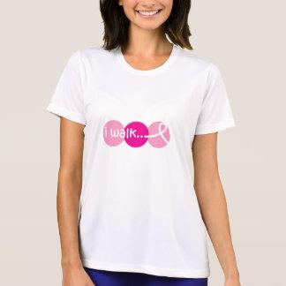 Camiseta Eu ando - consciência do cancro da mama