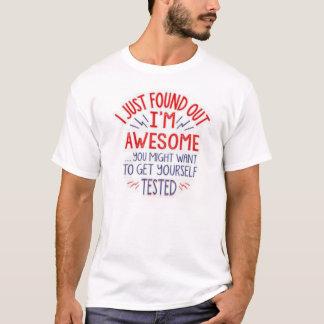 Camiseta Eu apenas encontrei que para fora eu sou