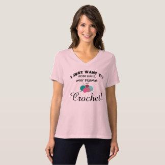 Camiseta Eu apenas quero crochet!