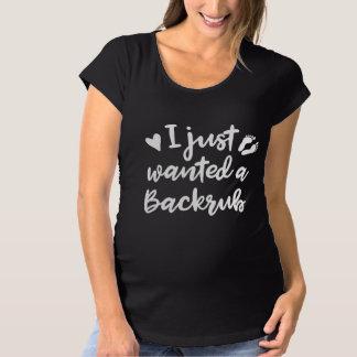 Camiseta Eu apenas quis um Backrub