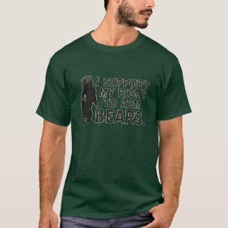 Camiseta Eu apoio meu direito de armar ursos