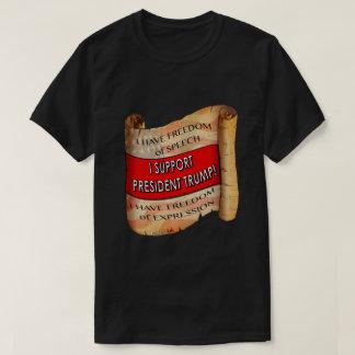 Camiseta Eu apoio o presidente Trunfo T-shirt