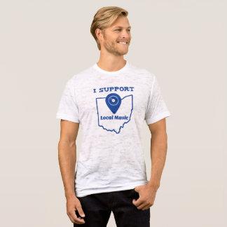 Camiseta Eu apoio o t-shirt local da música (Ohio)