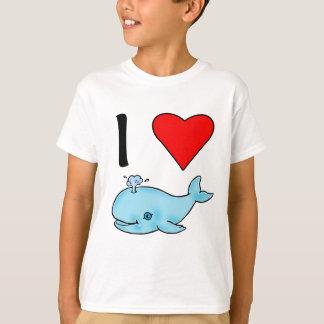 Camiseta Eu baleias do coração mim amo baleias