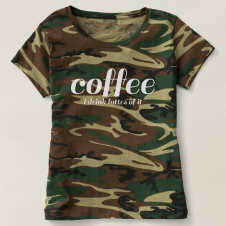 Camiseta Eu bebo lattes do café