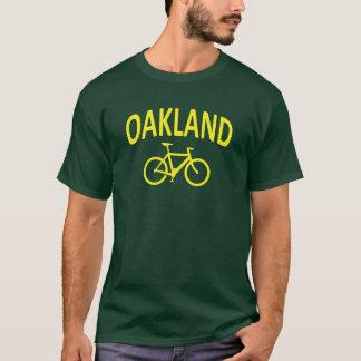 Camiseta Eu Bike OAKLAND - design da bicicleta de Fixie