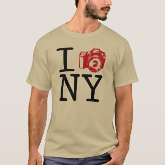 Camiseta Eu came New York/mim disparo no t-shirt da
