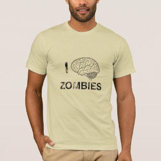 Camiseta Eu (cérebro) amo zombis
