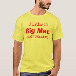 Camiseta Eu comi um t-shirt grande do Mac (os homens)