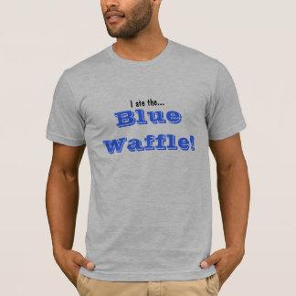 Camiseta Eu comi…, Waffle azul!
