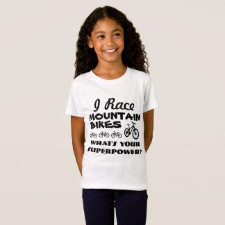 Camiseta Eu compito Mountain bike, o que sou sua