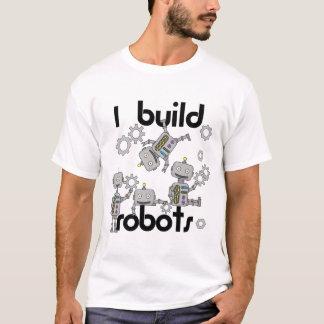 Camiseta Eu construo o t-shirt da robótica dos robôs