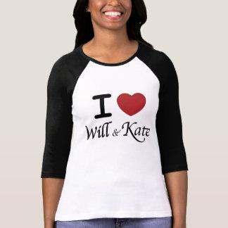 Camiseta Eu coração e Kate