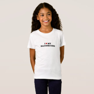 Camiseta Eu coração meu Bloodhound caçôo o t-shirt