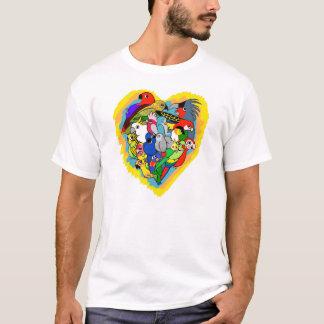 Camiseta Eu coração repito mecanicamente desenhos animados