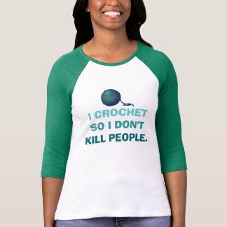 Camiseta Eu Crochet assim que eu não mato pessoas