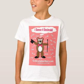 Camiseta Eu danço o t-shirt de 4 decimais