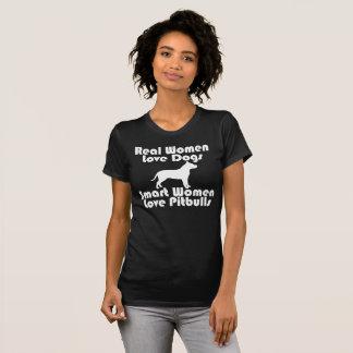 Camiseta Eu das mulheres amo o preto dos cães