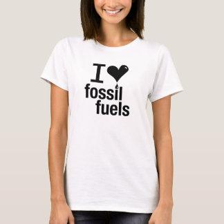 Camiseta Eu das senhoras amo o t-shirt dos combustíveis