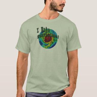Camiseta Eu deio furacões (o design silenciado das cores)