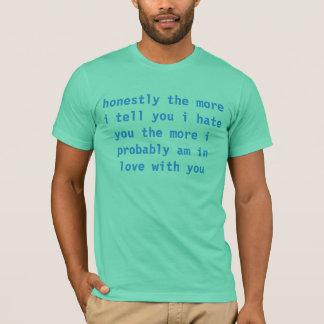 Camiseta eu deio-o que haha nenhum eu não faço