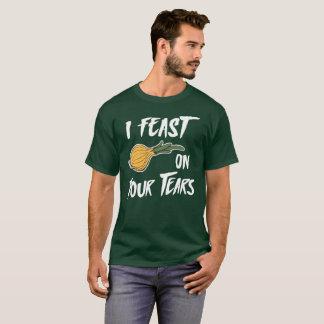 Camiseta Eu deleito-me em sua cebola ilustrada rasgos
