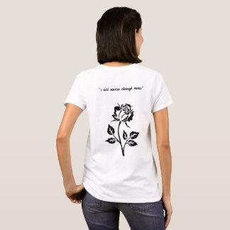Camiseta eu digo histórias através do t-shirt da música