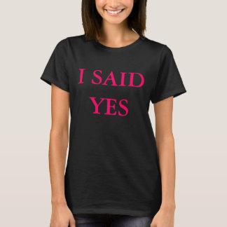 Camiseta Eu disse sim