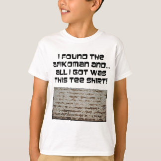 Camiseta Eu encontrei o Afikoman! Matzah do Passover