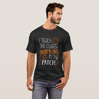 Camiseta Eu ensino às abóboras as mais bonitos o professor