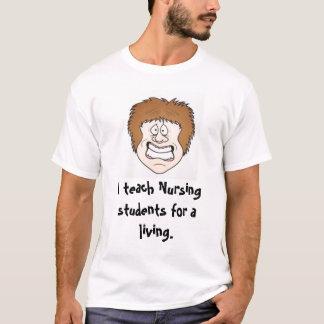 Camiseta Eu ensino estudantes dos cuidados para uma vida