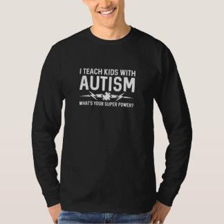 Camiseta Eu ensino miúdos com autismo