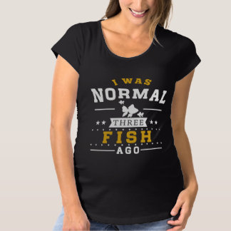 Camiseta Eu era três peixes normal há